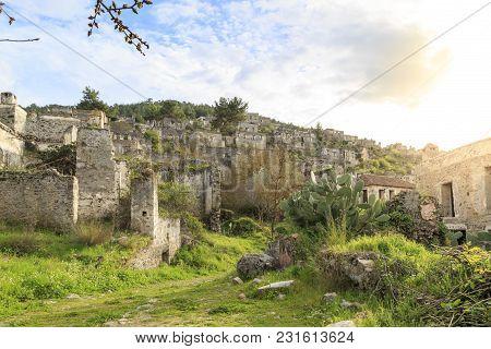 Kayakoy (karmylassos) Old Greek Village In Fethiye, Turkey