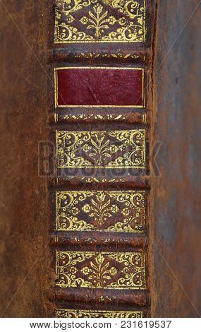ornamental book cover.from 1669.