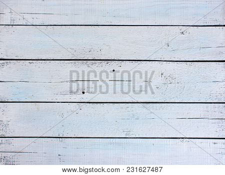 White Wooden Background Made Of Old Pine Boards