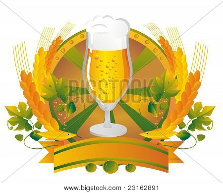 Beer Mug In A Vignette