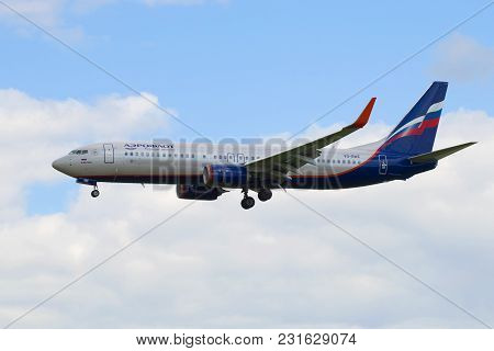 Saint Petersburg, Russia - May 17, 2016: Boeing 737-8lj