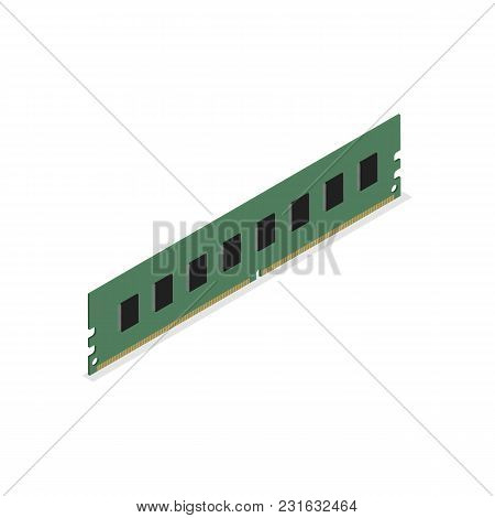 Ram Module, Isolated On White Background. Element For The Design Of Digital Devices And Computer Acc