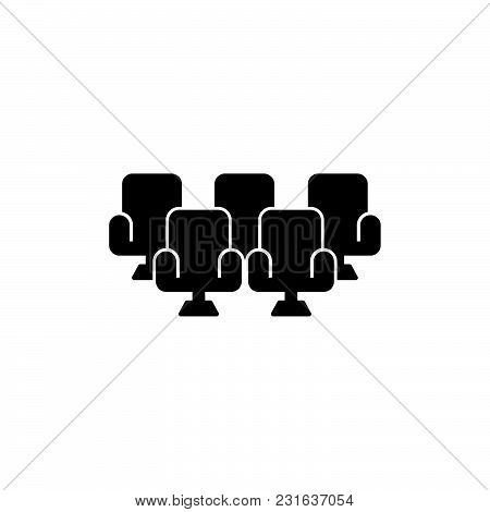 Theatre Seats Icon Isolated On White Background. Theatre Seats Icon Modern Symbol For Graphic And We