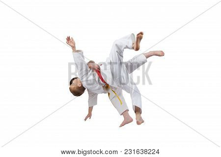 Two Athletes Are Training High Throws Of Judo