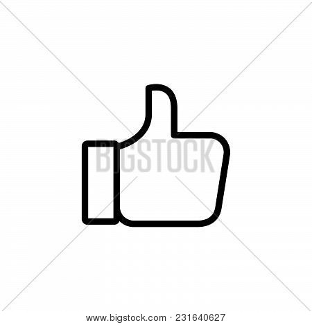 Thumb Up Icon Isolated On White Background. Thumb Up Icon Modern Symbol For Graphic And Web Design.