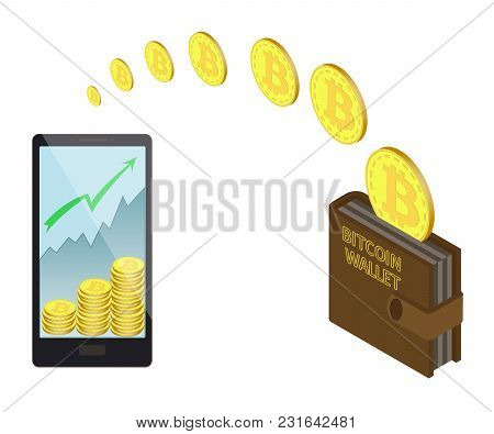 Transfer Bitcoin Coins In The  Electronic Wallet, Buying And Transfer Bitcoin Coins To  Electronic W