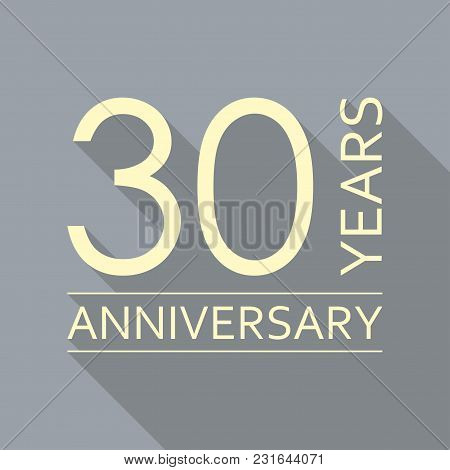 30 Years Anniversary Emblem. Anniversary Icon Or Label. 30 Years Celebration And Congratulation Desi