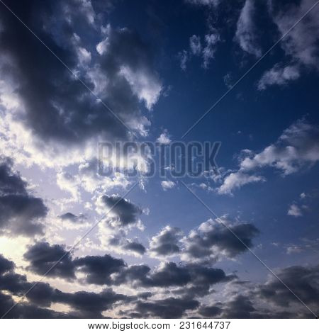 Beautiful Blue Sky With Clouds Background.sky Clouds.sky With Clouds Weather Nature Cloud Blue.blue