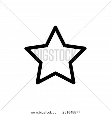 Star Icon Isolated On White Background. Star Icon Modern Symbol For Graphic And Web Design. Star Ico