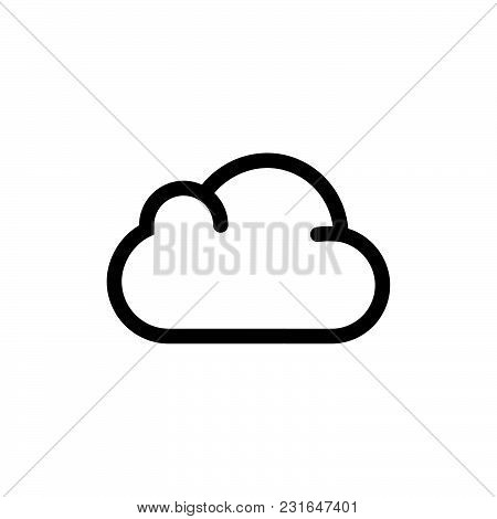 Cloud Icon Isolated On White Background. Cloud Icon Modern Symbol For Graphic And Web Design. Cloud