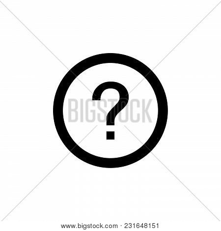 Question Mark Icon Isolated On White Background. Question Mark Icon Modern Symbol For Graphic And We