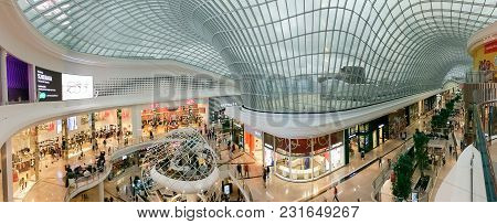 Melbourne, Australia - February 24, 2018: Atrium At Chadstone Shopping Centre Opened In October 2016