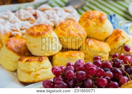 Breakfast Pastry Muffin At Spring Festival Picnic Event