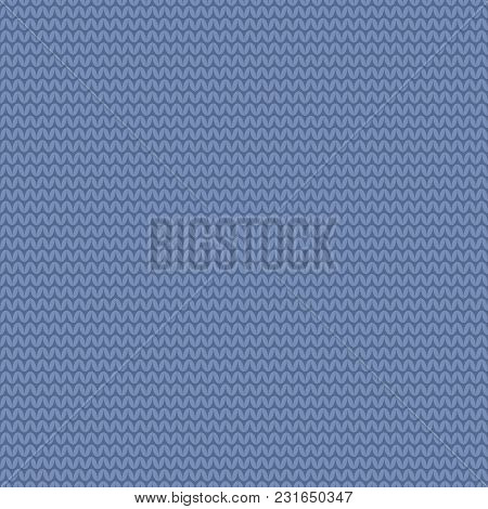 Tile Blue And White Knitting Vector Pattern Or Winter Background