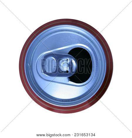 Aluminium soda can. Aluminium beer can. Open soda drink can.