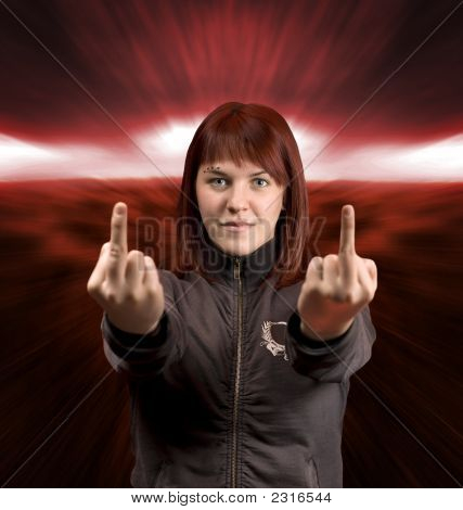 Middle Finger Redhead