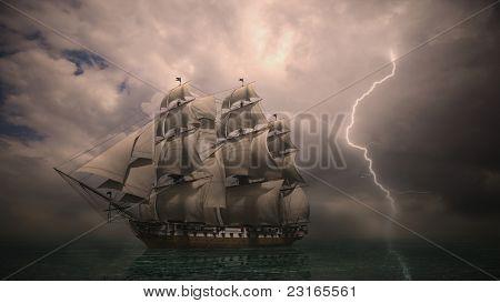 night storm coming