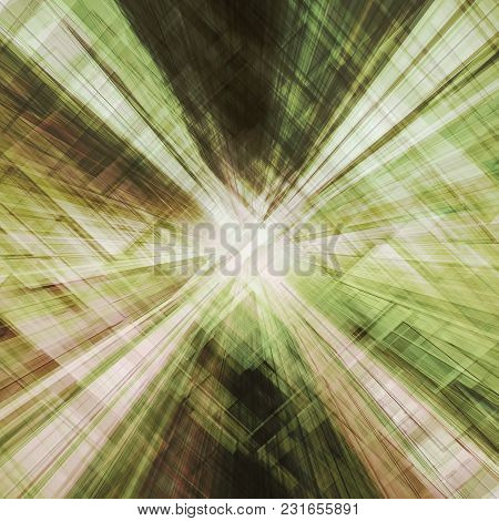 Abstract Tunnel. Conceptual 3d Rendering Technology Scene Background