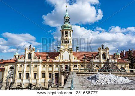 Loreta Is A Pilgrimage Destination In Hradcany, Prague, Czech Republic. Religious Architecture.