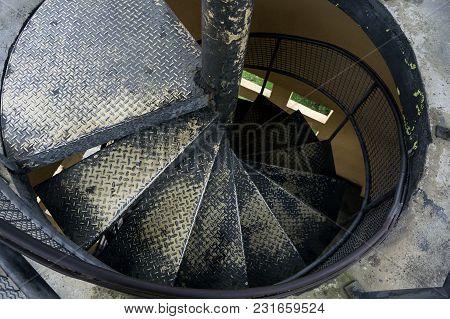 Stairs Spiral Metallic  Old  Indoors Tangua Park City Curitiba Brazil