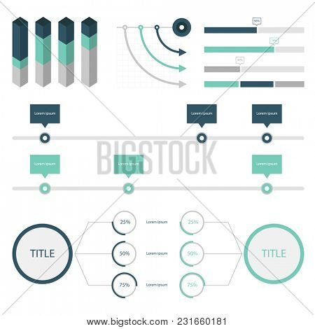 Set elements of infographic
