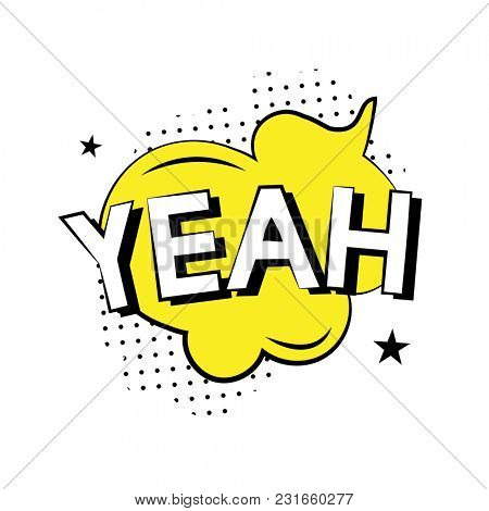 'YEAH' typography icon