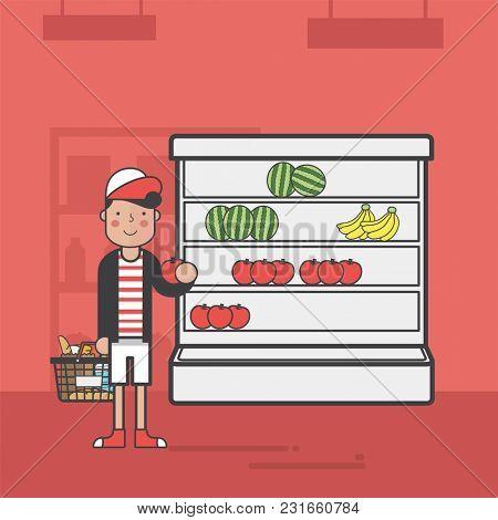 Illustration of supermarket