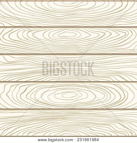 Vector Wooden Texture Background. Vector Wooden Planks. Illustration Of The Natural Wooden. Vintage