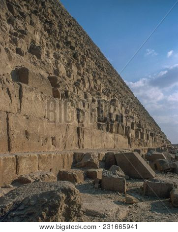Exterior Of The Great Pyramids Of Giza, Near Cairo In Egypt, Late 2003.