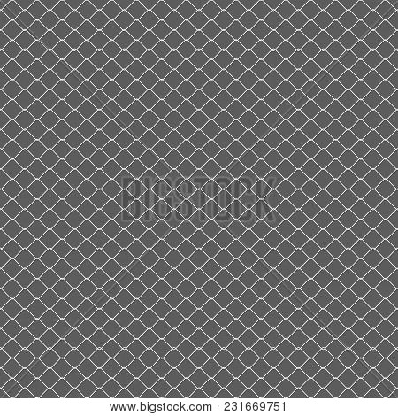 Chain Fence. Vector Illustration. Metallic Wired Fence Seamless Pattern