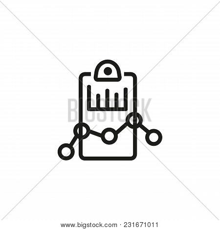Analysis Document Line Icon. Diagram, Report, Statistics. Marketing Concept. Can Be Used For Topics