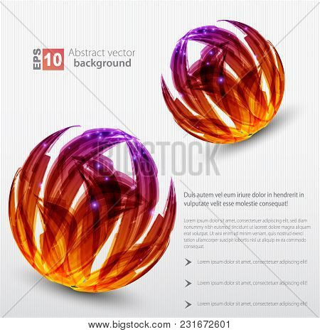 Nice Abstract Orange Sphere Background. Vector Illustration