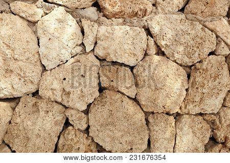 Big Stone Wall Background Horizontal Image