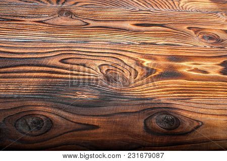 Old Natural Wooden Shabby Background Close Up Top View
