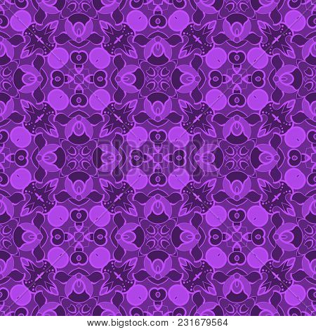 Abstract Symmetric Seamless Pattern. Decorative Background In Ethnic Style. The Rich Decor Of The Sh
