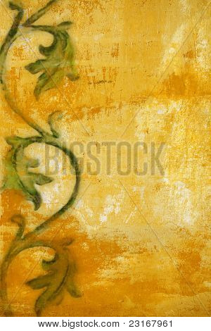 Art Grunge Floral Pattern Background