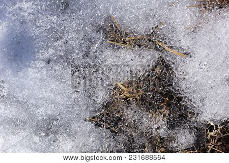 Crystal Texture Ice And Snow For Winter Texture