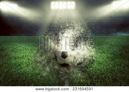 Soccer Ball Explodes In Dust And Ash