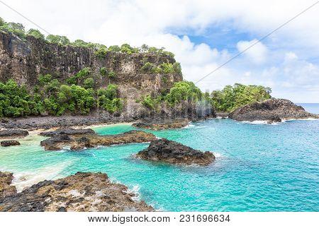Fernando De Noronha, Brazil. Baia Dos Porcos Beach In This Brazilian Paradise. Archipelago Fernando