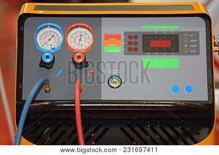 Refrigerant Recovery Machine Tools In Service Garage