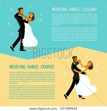 Set Of Flares With Happy Young Bride And Groom Are Dance On Their Wedding Day. Concept For The Studi