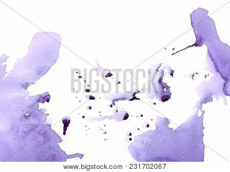 Colorful Ink Spots, Watercolor Paint Splatter, Grunge Abstract Painting Background. Design Artistic