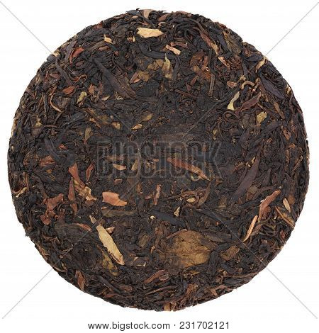 Da Qing Village Wild Purple Pressed Black Tea Isolated
