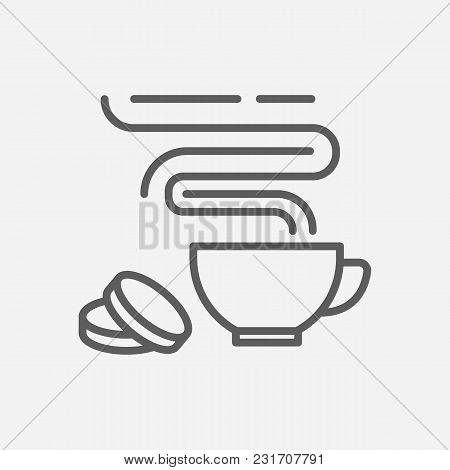Cookie Icon Line Symbol. Isolated Vector Illustration Of  Icon Sign Concept For Your Web Site Mobile