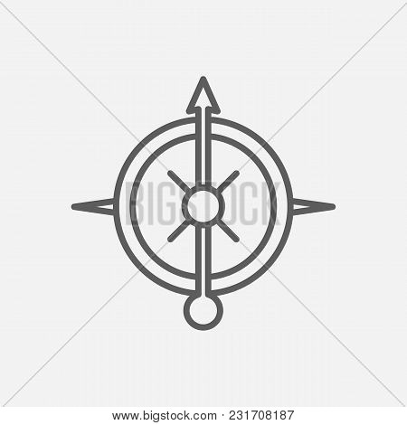 Strategy Icon Line Symbol. Isolated Vector Illustration Of  Icon Sign Concept For Your Web Site Mobi
