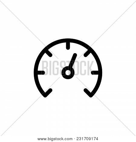 Speedometer Icon Isolated On White Background. Speedometer Icon Modern Symbol For Graphic And Web De