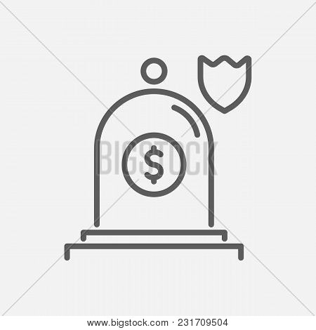 Insurance Icon Line Symbol. Isolated  Illustration Of  Icon Sign Concept For Your Web Site Mobile Ap