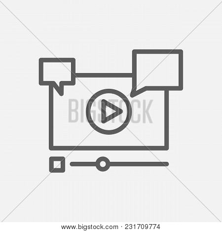 Video Marketing Icon Line Symbol. Isolated  Illustration Of  Icon Sign Concept For Your Web Site Mob
