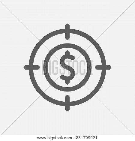 Investment Target Icon Line Symbol. Isolated  Illustration Of  Icon Sign Concept For Your Web Site M