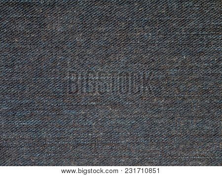 Dark Indigo Washed Denim Fabric Texture Swatch